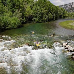 Parcours canoe dans les Gorges de l'Hérault