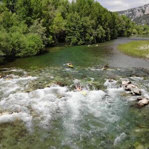 Descente de rapide en canoë sur les Gorges de l'Hérault