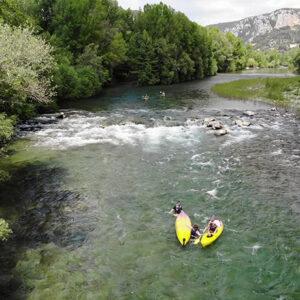 Parcours rapides de canoë sur les Gorges de l'Hérault