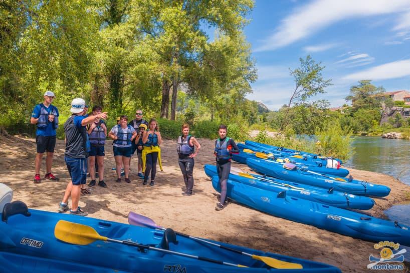 Briefing base Canoe Montana Hérault